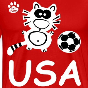 Catpaw Cat Cats Comic USA United States Sports Fun T-shirts - T-shirt premium pour hommes