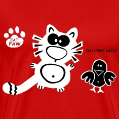 Catpaw Design I Love you Cupid Couple Friends
