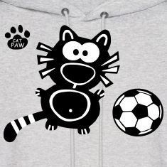 Soccer Hoodie Capaw Design Cat Cute Funny Cool