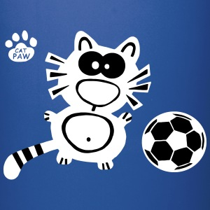 Soccer Coffee Tea Mug Cat Catpaw Design - Full Color Mug