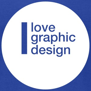 I love graphic design - Men's T-Shirt by American Apparel