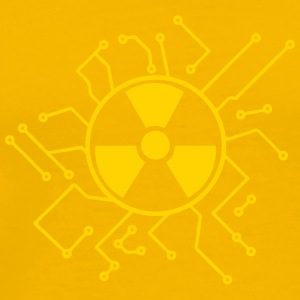 atomically atomic symbol radioactive atomic bomb f T-Shirts - Men's Premium T-Shirt