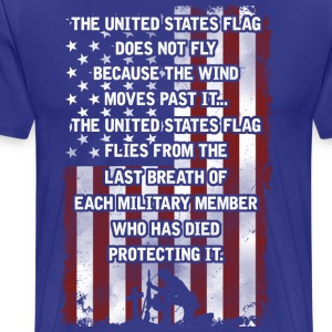Why does the US Flag fly? (T-shirt) - Men's Premium T-Shirt