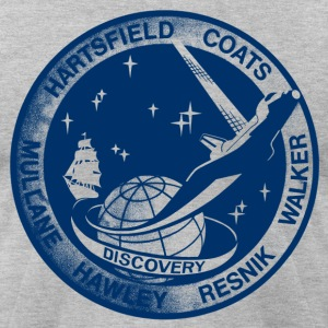 Vintage NASA Discovery t shirt  - Men's T-Shirt by American Apparel