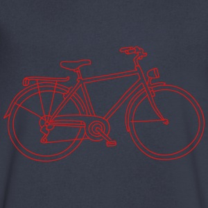 Bicycle T-Shirts - Men's V-Neck T-Shirt by Canvas