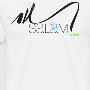 Salam Arabic Calligraphy T shirt by  THE PEACEFUL - Men's Premium T-Shirt