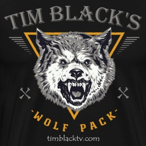 Tim Black's Wolf Pack Men's Growl T-Shirt - Men's Premium T-Shirt