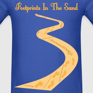 Footprints in the Sand - Men's T-Shirt