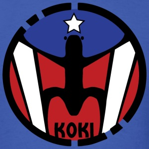 Puerto Rico Flag - Koki - Men's T-Shirt
