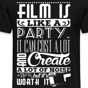 Film is like a party - Men's Premium T-Shirt