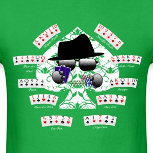 PokerCombinations - HatMan Robot - Men's T-Shirt