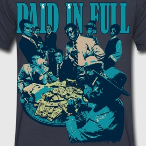 paid in full T-Shirts - Men's V-Neck T-Shirt by Canvas