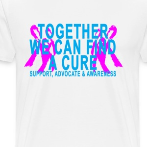 together_we_can_find_a_cure_white_tshirt - Men's Premium T-Shirt
