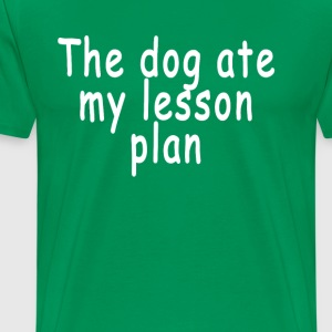 the_dog_ate_my_lesson_plan_ - Men's Premium T-Shirt
