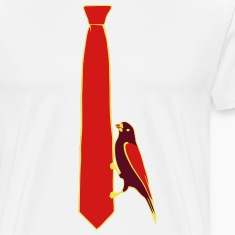 Tie with bird