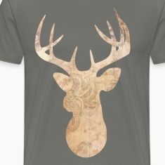 Modern deer head T-Shirts