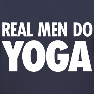 Real Men Do Yoga Women's T-Shirts - Women's V-Neck T-Shirt
