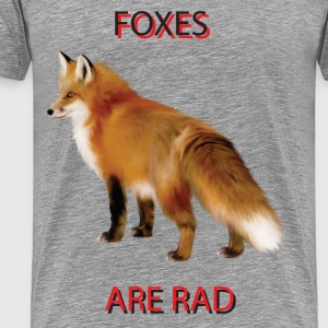 Foxes are Rad - Men's Premium T-Shirt