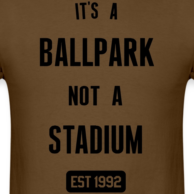 It's a Ballpark, Not a Stadium