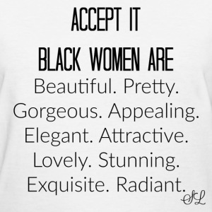Empowered Black Women Are Beautiful T-shirt Saying - Women's T-Shirt