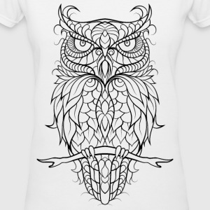 V-neck Tshirt owl - Women's V-Neck T-Shirt