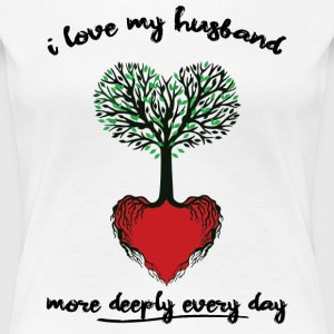 Husband Love More Each Day - Women's Premium T-Shirt