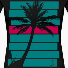 Palmtree over stripes