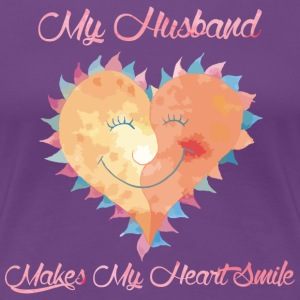 Husband Makes My Heart Smile - Women's Premium T-Shirt