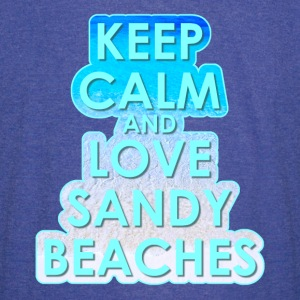 KEEP CALM AND LOVE SANDY BEACHES - Vintage Sport T-Shirt