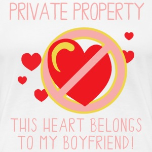 Heart Belongs To My Boyfriend - Women's Premium T-Shirt
