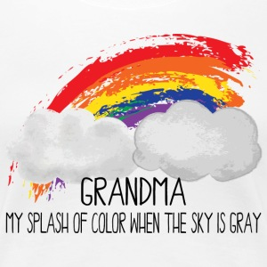 Grandma Splash Of Color When Sky Is Gray - Women's Premium T-Shirt