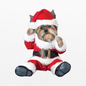 Yorkie Baby Santa Other - Pillowcase