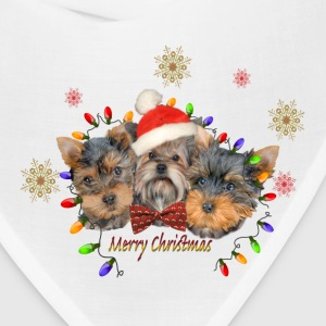 Yorkie Merry Christmas Caps - Bandana