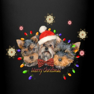 Yorkie Merry Christmas Mugs & Drinkware - Full Color Mug