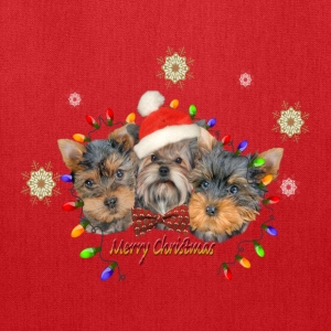 Yorkie Merry Christmas Bags & backpacks - Tote Bag