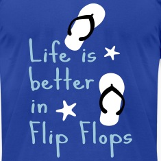 Life is better in flip-flops Men's T-Shirt by Amer