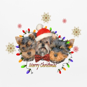 Yorkie Merry Christmas Other - Mouse pad Horizontal