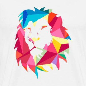 Triangle Geomatric Lion - Men's Premium T-Shirt