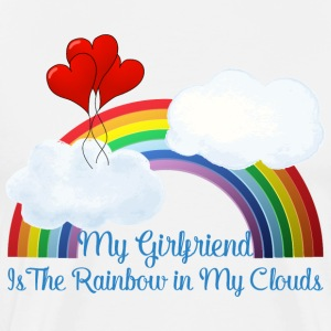 Girlfriend Is Rainbow In My Clouds - Men's Premium T-Shirt