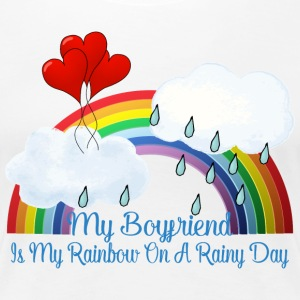 Boyfriend Is My Rainbow On Rainy Day - Women's Premium T-Shirt