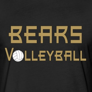 Bears Volleyball T-Shirts - Fitted Cotton/Poly T-Shirt by Next Level