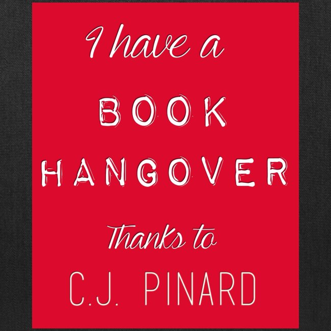 Tote Bag I HAVE A BOOK HANGOVER Black/Red