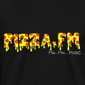 Pizza FM logo tee (black) - Men's Premium T-Shirt