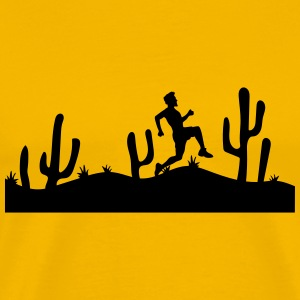 race running jogging relay race sport desert eveni T-Shirts - Men's Premium T-Shirt