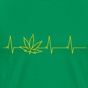 Heartbeat Cannabis Shirt - Men's Premium T-Shirt