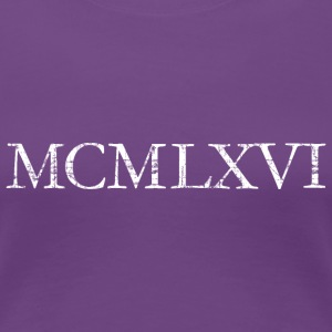 MCMLXVI Roman Year 1966 Birthday T-Shirt - Women's Premium T-Shirt
