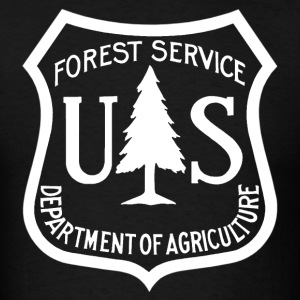 US Forest Service logo tee shirt  - Men's T-Shirt