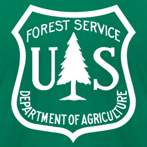 US Forest Service logo tee shirt  - Men's T-Shirt by American Apparel