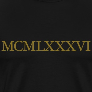 MCMLXXXVI 1986 Roman T-Shirt (Gold) - Men's Premium T-Shirt