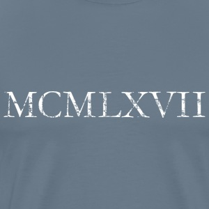 MCMLXVII 1967 Roman Birthday Year T-Shirts - Men's Premium T-Shirt